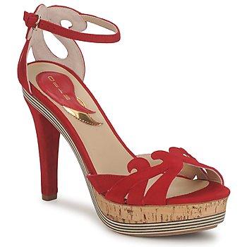 Sapatos Mulher Sandálias Etro 3488 Vermelho