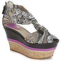 Sapatos Mulher Sandálias Etro 3467 Cinza / Preto / Violeta
