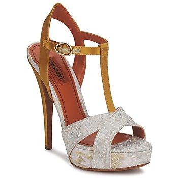 Sapatos Mulher Sandálias Missoni TM30 Ouro / Prata