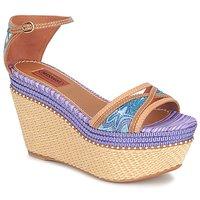Sapatos Mulher Sandálias Missoni TM26 Azul / Castanho
