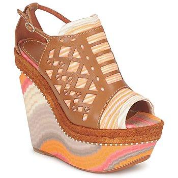Sapatos Mulher Sandálias Missoni TM22 Castanho / Laranja