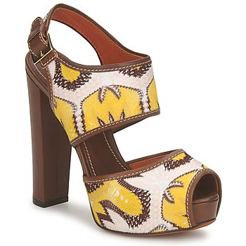Sapatos Mulher Sandálias Missoni TM81 Castanho / Bege / Amarelo