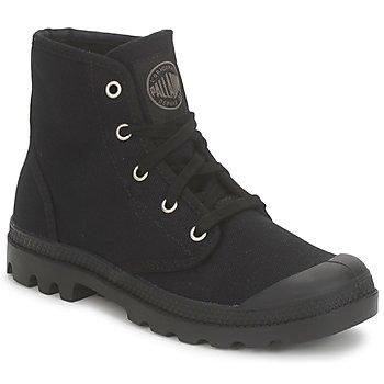 Sapatos Mulher Botas baixas Palladium US PAMPA HI Preto