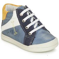 Sapatos Rapaz Botas baixas André PEDALO Azul