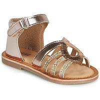 Sapatos Rapariga Sandálias André LEÏA Dourado