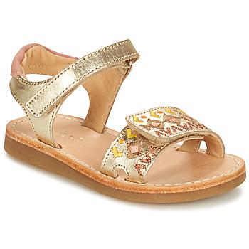 Sapatos Rapariga Sandálias André ALMERIA Ouro