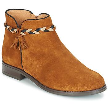 Sapatos Mulher Botas baixas André RAVIE Camel
