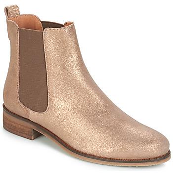 Sapatos Mulher Botas baixas André CHATELAIN Ouro