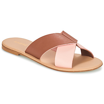 Sapatos Mulher Chinelos André CRYTELLE Castanho