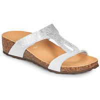 Sapatos Mulher Sandálias André REVERA Prateado / Branco