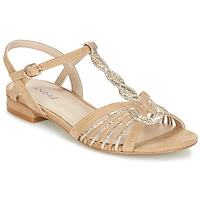 Sapatos Mulher Sandálias André CALLISTO Bege / Ouro