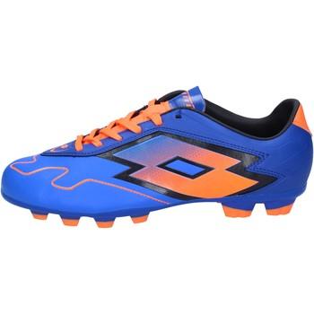 Sapatos Homem Chuteiras Lotto sneakers da calcio blu pelle arancione BT586 Blu