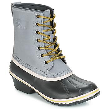Sapatos Mulher Botas de neve Sorel SLIMPACK™ 1964 Cinza / Preto
