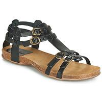 Sapatos Mulher Sandálias Kickers ANA Preto