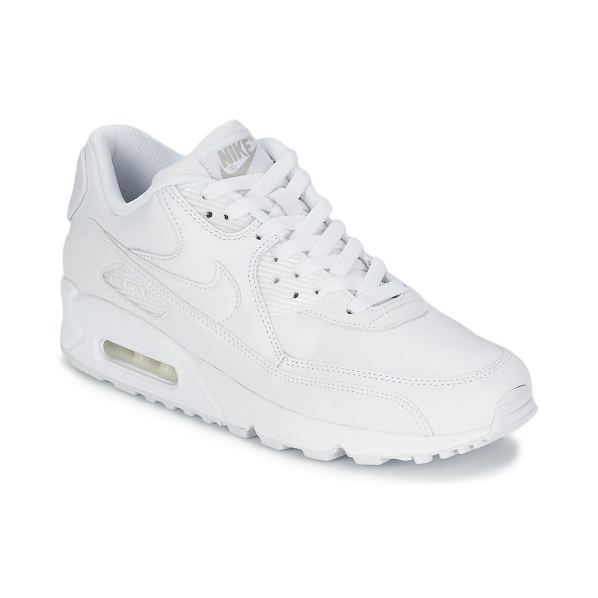fa9f9f199b3 Nike AIR MAX 90 Branco - Entrega gratuita com a Spartoo.pt ! - Sapatos  Sapatilhas Homem 144