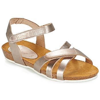 Sapatos Rapariga Sandálias Kickers BOGART Bronze / Matal
