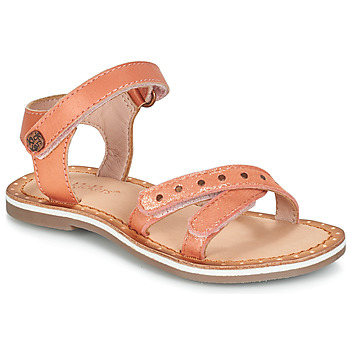 Sapatos Rapariga Sandálias Kickers DIDONC Rosa / Matal