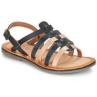 Sapatos Rapariga Sandálias Kickers DIXON Preto / Serpente