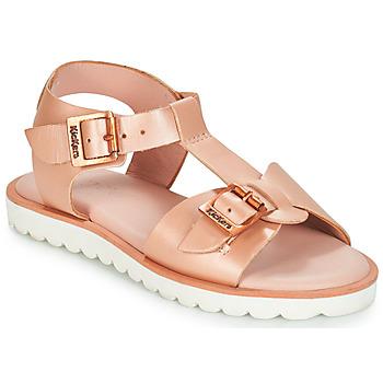 Sapatos Rapariga Sandálias Kickers ISABELA Rosa / Matal