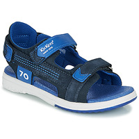 Sapatos Rapaz Sandálias Kickers PLANE Marinho