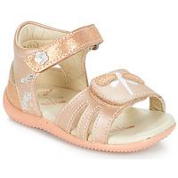 Sapatos Rapariga Sandálias Kickers BESHINE Rosa / Matal