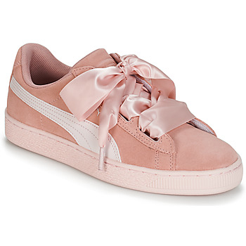 Sapatos Rapariga Sapatilhas Puma JR SUEDE HEART JEWEL.PEACH Rosa