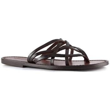 Sapatos Mulher Sandálias Gianluca - L'artigiano Del Cuoio 543 D MORO CUOIO Testa di Moro