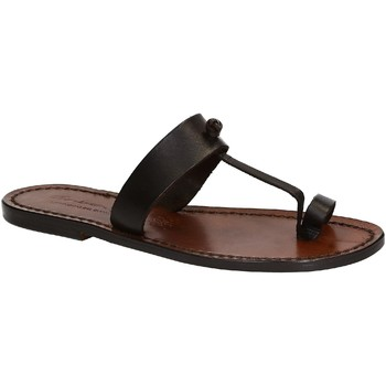 Sapatos Mulher Sandálias Gianluca - L'artigiano Del Cuoio 554 D MORO CUOIO Testa di Moro
