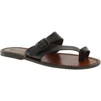 Sapatos Mulher Sandálias Gianluca - L'artigiano Del Cuoio 556 D MORO CUOIO Testa di Moro