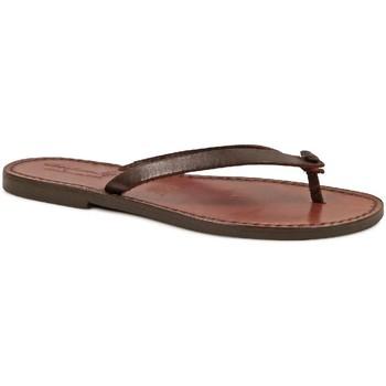 Sapatos Mulher Chinelos Gianluca - L'artigiano Del Cuoio 540 D MORO CUOIO Testa di Moro