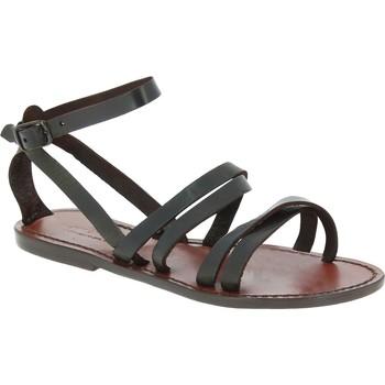 Sapatos Mulher Sandálias Gianluca - L'artigiano Del Cuoio 581 D MORO CUOIO Testa di Moro