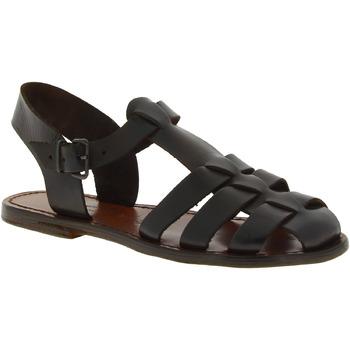 Sapatos Mulher Sandálias Gianluca - L'artigiano Del Cuoio 501 D MORO CUOIO Testa di Moro