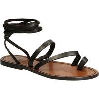 Sapatos Mulher Sandálias Gianluca - L'artigiano Del Cuoio 513 D MORO CUOIO Testa di Moro