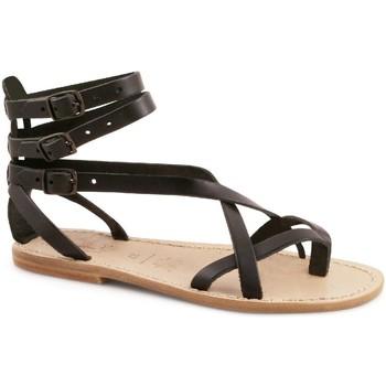 Sapatos Mulher Sandálias Gianluca - L'artigiano Del Cuoio 564 D NERO LGT-CUOIO nero