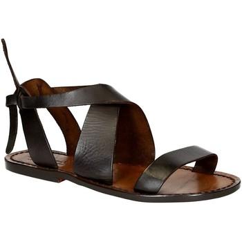 Sapatos Mulher Sandálias Gianluca - L'artigiano Del Cuoio 570 D MORO CUOIO Testa di Moro