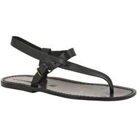 Sapatos Homem Sandálias Gianluca - L'artigiano Del Cuoio 592 U NERO CUOIO nero