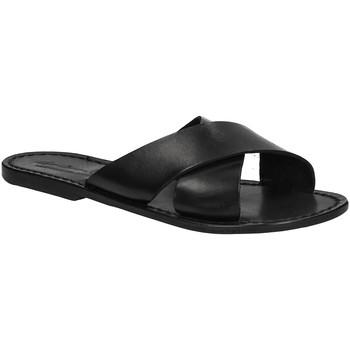 Sapatos Mulher Chinelos Gianluca - L'artigiano Del Cuoio 560 D NERO CUOIO nero