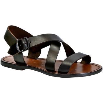 Sapatos Mulher Sandálias Gianluca - L'artigiano Del Cuoio 508X D MORO CUOIO Testa di Moro