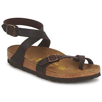 Sapatos Mulher Sandálias Birkenstock YARA PREMIUM Castanho