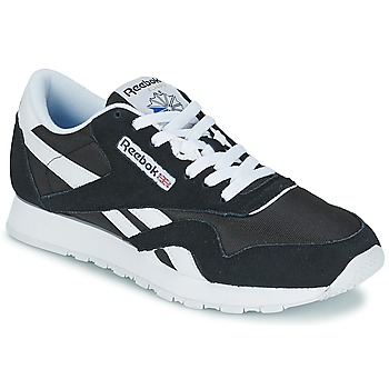 Sapatos Homem Sapatilhas Reebok Classic CL NYLON Preto / Branco