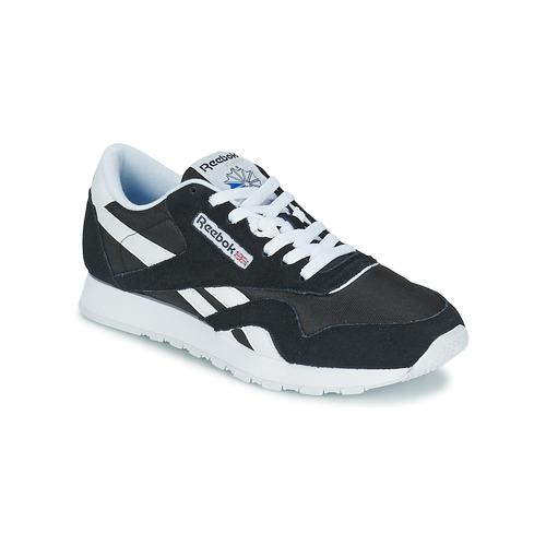Sapatos Sapatilhas Reebok Classic CL NYLON Preto / Branco