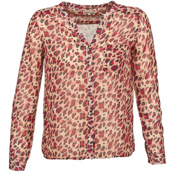 Textil Mulher Camisas mangas comprida Best Mountain AZARI Bege / Vermelho