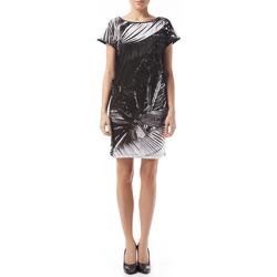 Textil Mulher Vestidos curtos Gas Vestido Leire Tropical Preto
