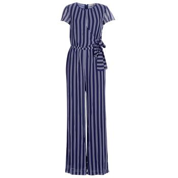 Textil Mulher Macacões/ Jardineiras MICHAEL Michael Kors MEGA RAILRD ST  JMPST Marinho / Branco