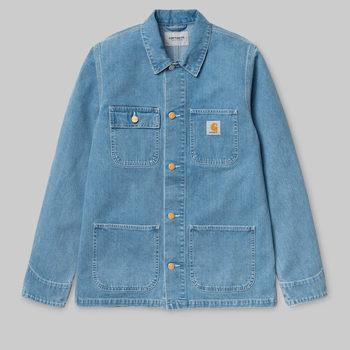 Textil Homem Casacos Carhartt Work In Progress Carhartt WIP Michigan Chore Coat - Blue 19