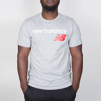 Textil Homem T-Shirt mangas curtas New Balance Athletics Main Logo Tee - Athletic Grey 35