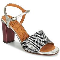 Sapatos Mulher Sandálias Chie Mihara PARIGI Prata / Preto