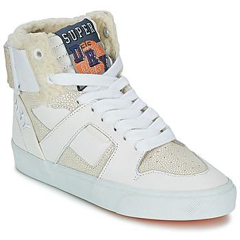 Sapatos Mulher Sapatilhas de cano-alto Superdry MARIAH HIGH TOP Branco