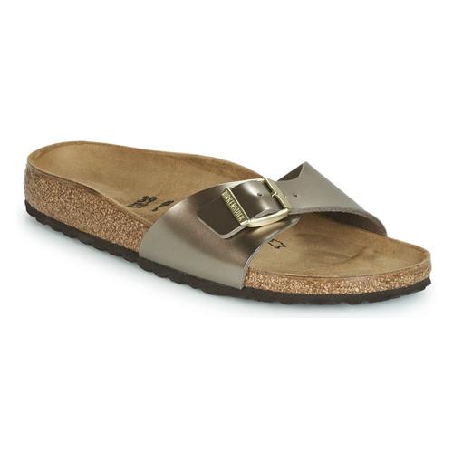 Sapatos Mulher Chinelos Birkenstock MADRID Bronze