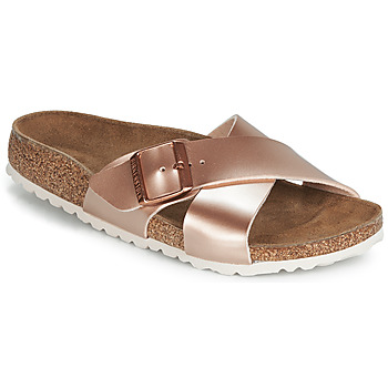 Sapatos Mulher Chinelos Birkenstock SIENA Rosa / Ouro
